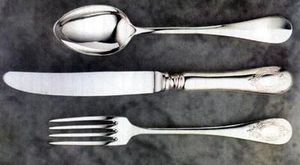 ORFEVRERIE BAUDINO - baguette ecusson - Couverts De Table