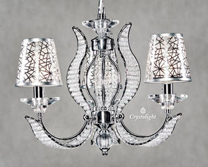 Crystolight - modern chandeliers 3 arms with covers - Applique