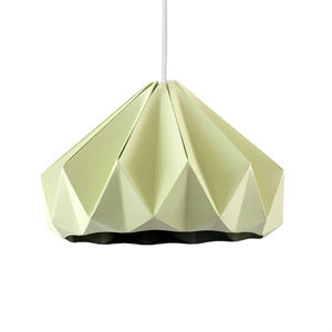 SNOWPUPPE - chestnut - suspension papier vert pastel ø28cm | s - Suspension