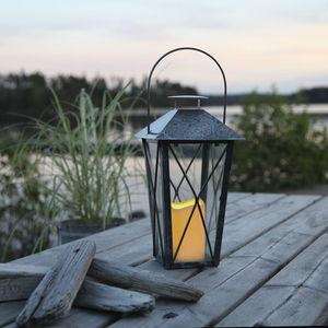 Best Season - lantern - lanterne extérieur métal vieilli gris bo - Lanterne D'extérieur