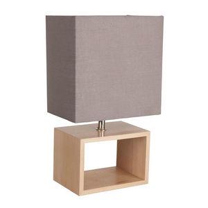 Corep - liv - lampe à poser bois/gris | lampe à poser core - Lampe À Poser