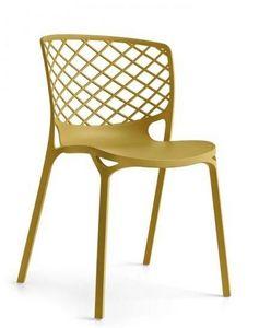 Calligaris - chaise empilable gamera de calligaris jaune moutar - Chaise
