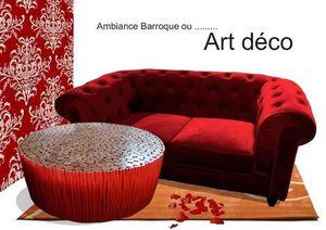 D'UN CONTINENT A L'AUTRE -  - Table Basse Ronde