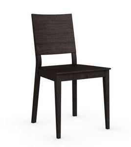 Calligaris - chaise italienne style line de calligaris wengé - Chaise