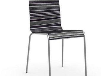 Calligaris - chaise online de calligaris pi�tement acier chrom� - Chaise
