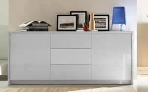 Calligaris - buffet password de calligaris blanc 2 portes 3 tir - Buffet Bas