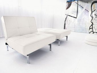 INNOVATION - fauteuil lit design splitback blanc convertible 90 - Banquette Clic Clac