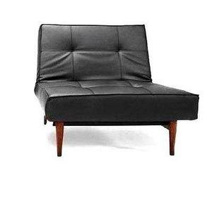 INNOVATION - splitback wood fauteuil noir convertible design in - Fauteuil Bas