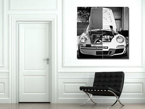 CARS AND ROSES -  - Tableau D�coratif