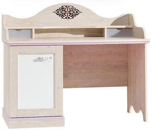 WHITE LABEL - bureau baroque pour fille coloris bois naturel et  - Bureau Enfant