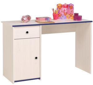 WHITE LABEL - bureau enfant simple coloris pin memphis - Bureau Enfant