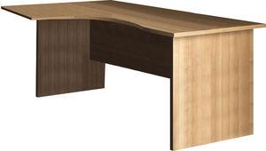 WHITE LABEL - bureau 160 cm avec plateau angle gauche coloris c - Bureau
