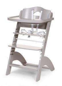 WHITE LABEL - chaise haute évolutive pour bébé coloris gris clai - Chaise Haute Enfant