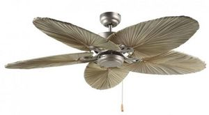 LBA HOME - ventilateur de plafond tropical colonial, pales en - Ventilateur De Plafond