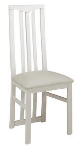 COMFORIUM - lot de 2 chaises blanches garnies de strass - Chaise