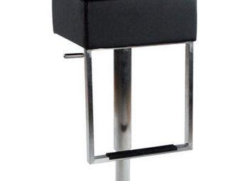 KOKOON DESIGN - tabouret de bar avec repose pieds cubo - Chaise Haute De Bar
