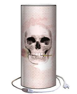 Plage Des Demoiselles - lampe à poser romantic skull 30x12cm - Lampe À Poser