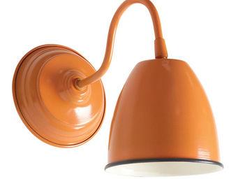 Aubry-Gaspard - applique murale en m�tal laqu� orange - Applique