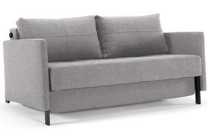 INNOVATION - canapé lit design cubed gris granite avec accoudoi - Canapé Lit