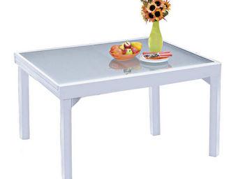 WILSA GARDEN - table de jardin blanc modulo en aluminium avec ral - Table De Jardin