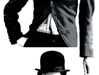 Nouvelles Images - sticker mural charlie chaplin - Sticker