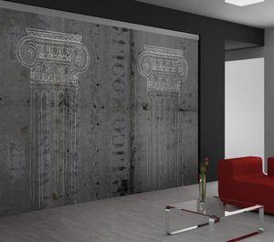 IN CREATION - colonne ionique fond béton - Papier Peint Panoramique