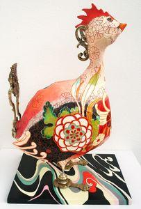 ARTBOULIET - kimonocoq - Sculpture Animalière