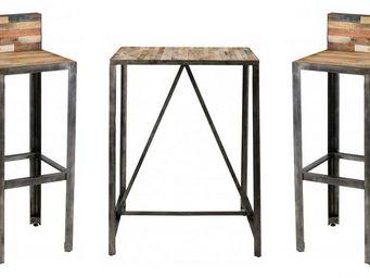 ZAGO - ensemble bar besi 1 table + 2 tabourets - Mange Debout