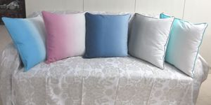 ITI  - Indian Textile Innovation - dip dye - Housse De Coussin