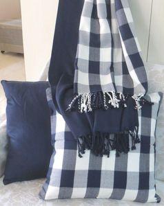 ITI  - Indian Textile Innovation - solid & check - Jeté De Lit