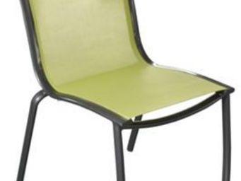 PROLOISIRS - chaise linea en aluminium royal grey et textilène - Chaise De Jardin