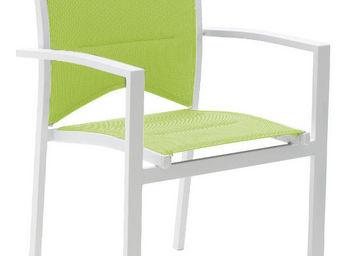 WILSA GARDEN - fauteuil de jardin modulo blanc/anis - Fauteuil De Jardin