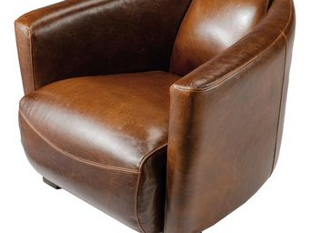 ZAGO - fauteuil cigare en bycast marron clair - Fauteuil