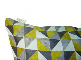 BAILET - coussin d�co prisme - 40x40 cm - verso gris perle - Coussin Carr�