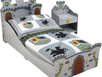 KidKraft - chambre château fort lit + chevet + parure offerte - Lit Enfant