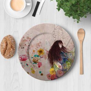 la Magie dans l'Image - assiette fée d'automne - Assiette De Présentation