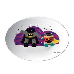 la Magie dans l'Image - assiette héros batman - Assiette De Présentation