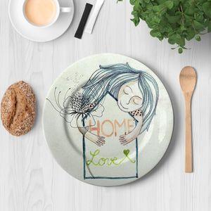 la Magie dans l'Image - assiette home love - Assiette De Présentation