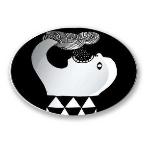 la Magie dans l'Image - assiette ogre pluie noir & blanc - Assiette De Présentation