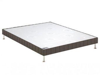 Bultex - bultex sommier tapissier confort ferme taupe 90*2 - Sommier Fixe À Ressorts