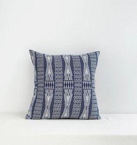 JAMINI - bleu indigo - Coussin Carré