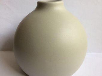 Drake - vase boule crème pour diffuseur de parfum - Vase À Fleurs