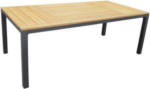 PROLOISIRS - table en aluminium et teck tempo 180 cm - Table De Jardin