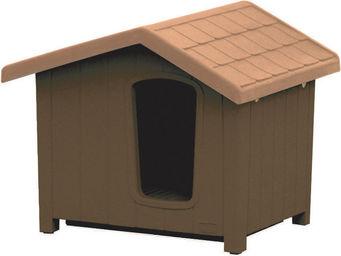 jardindeco - niche pour chien en résine clara taille 5 - Niche