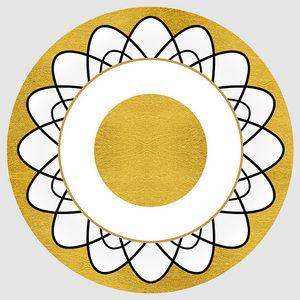Design Atelier - goldene sonne - Assiette Décorative