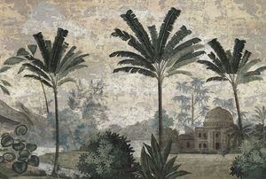 Ananbô - pushkar grisaille - Papier Peint Panoramique