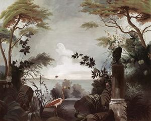 Ananbô - flamant rose- - Papier Peint Panoramique