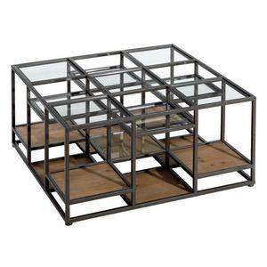 TOUSMESMEUBLES - table basse carrée 1410601 - Table Basse Carrée