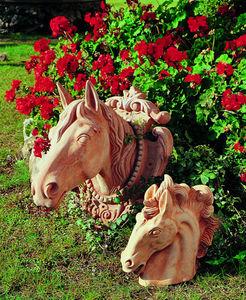 Enzo Zago - tête de cheval - Sculpture Animalière