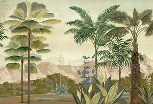 Ananbô - les palmiers de kalaho couleur - Papier Peint Panoramique